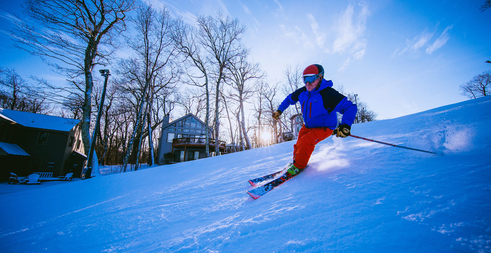 skiing and snowboarding at Wintergreen Resort in virginia