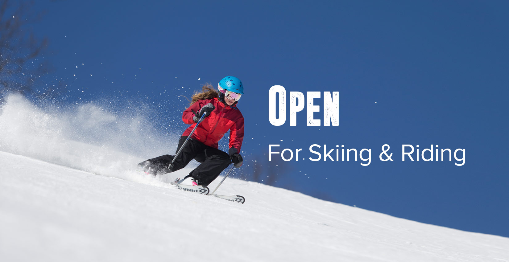 open for skiing and riding at wintergreen resort