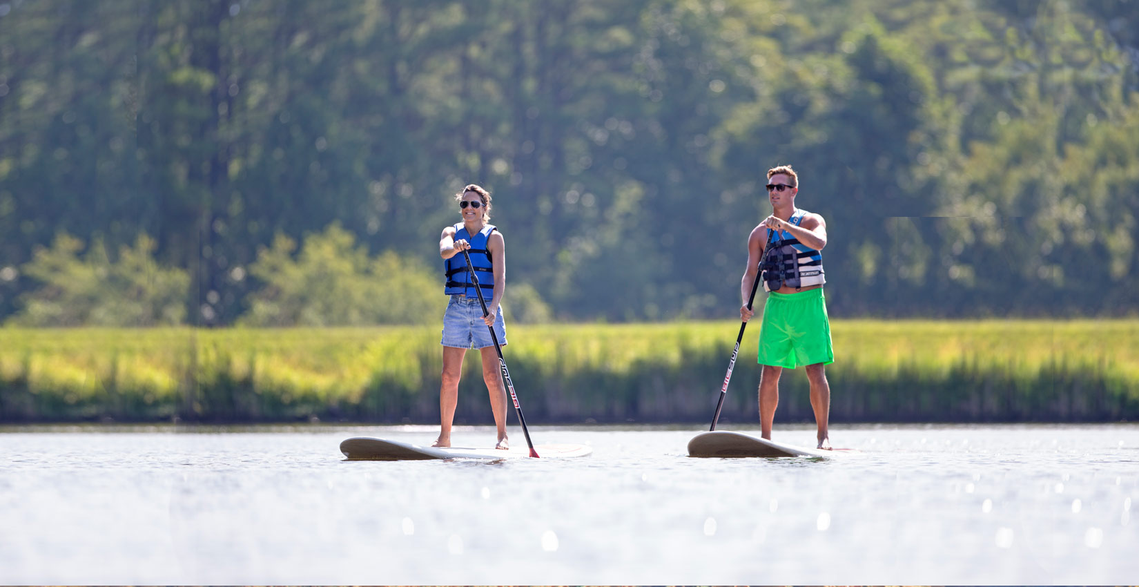 Stand Up Paddle Boarding at Lake Monocan at Wintergreen Resort