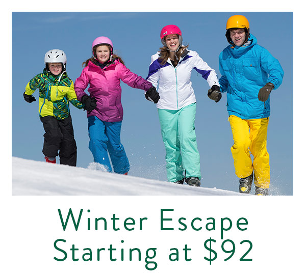 Our Winte Escape Packages bundles lodging and lift tickets
