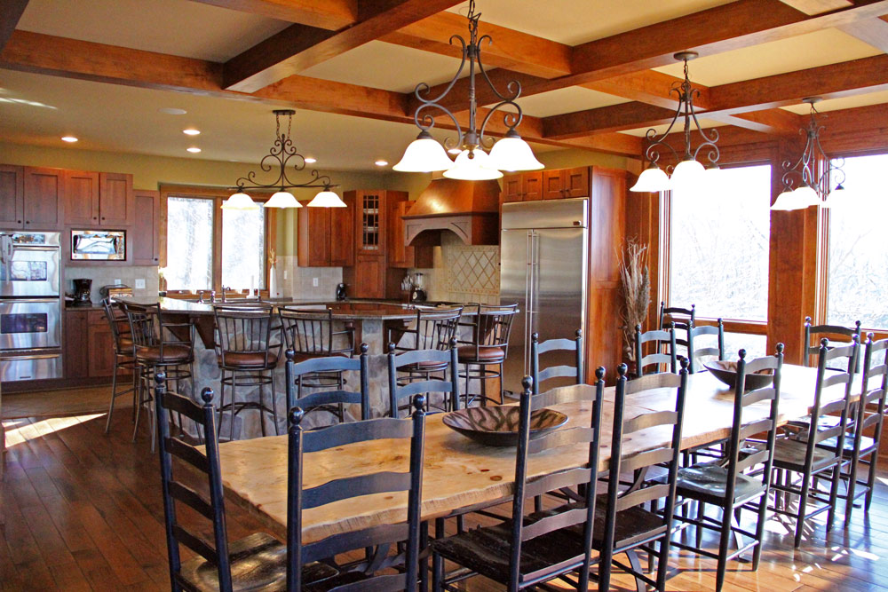 Mountain Dining Room Table. The Formal Dining Room Centers Around A ...