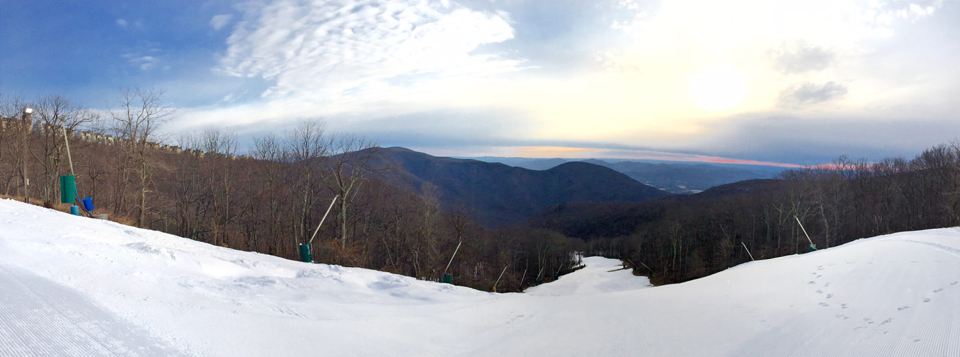highlands slope panorama february 27, 2017