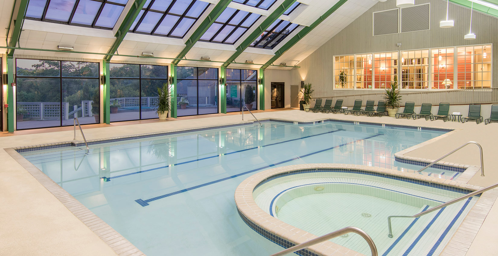 Aquatics and Fitness at indoor pool Wintergreen Resort