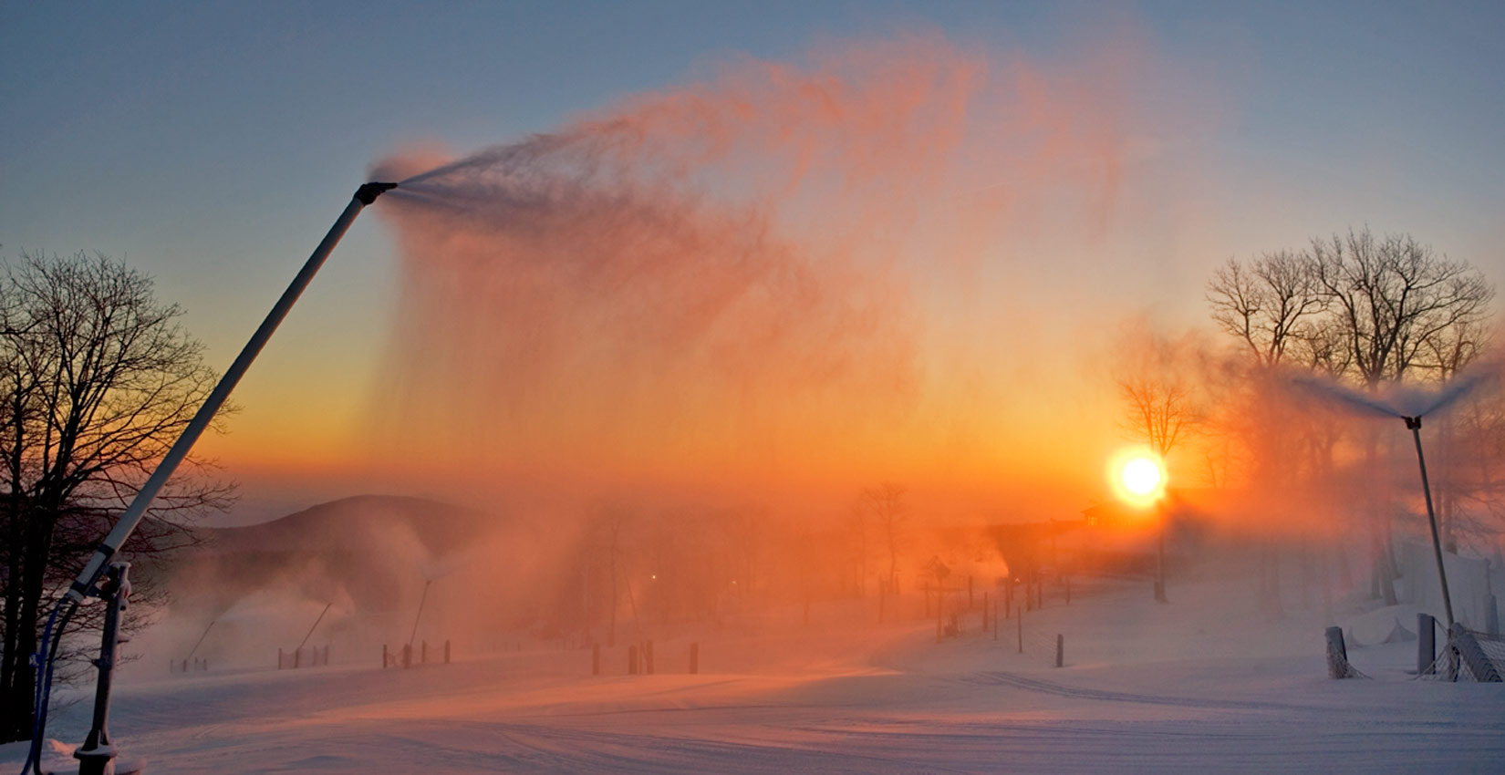 snowguns at sunrise