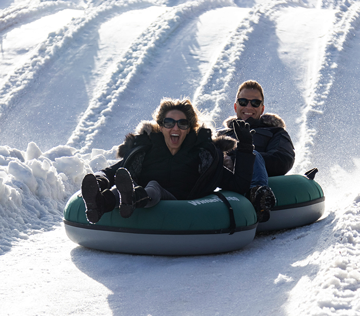 snow tubing at wintergreen