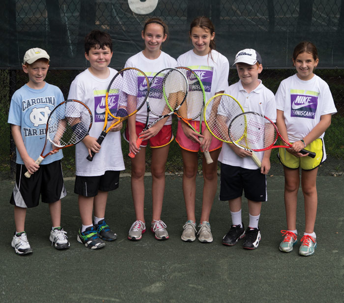 children at nike tennis camp