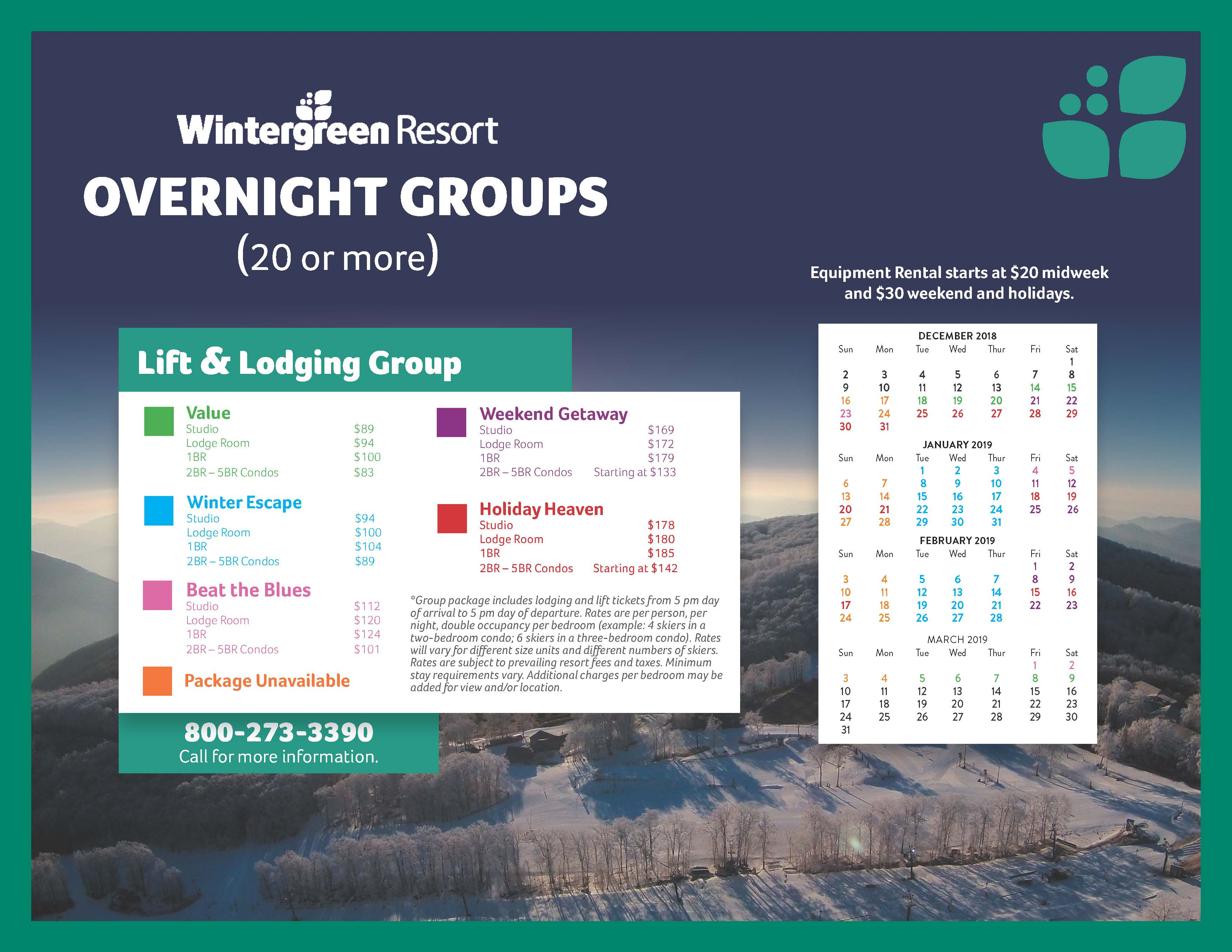 overnight group ski trips