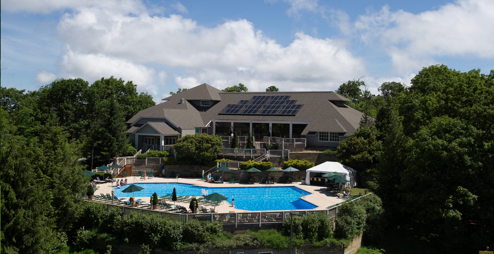aquatics and fitness at outdoor pool wintergreen resort