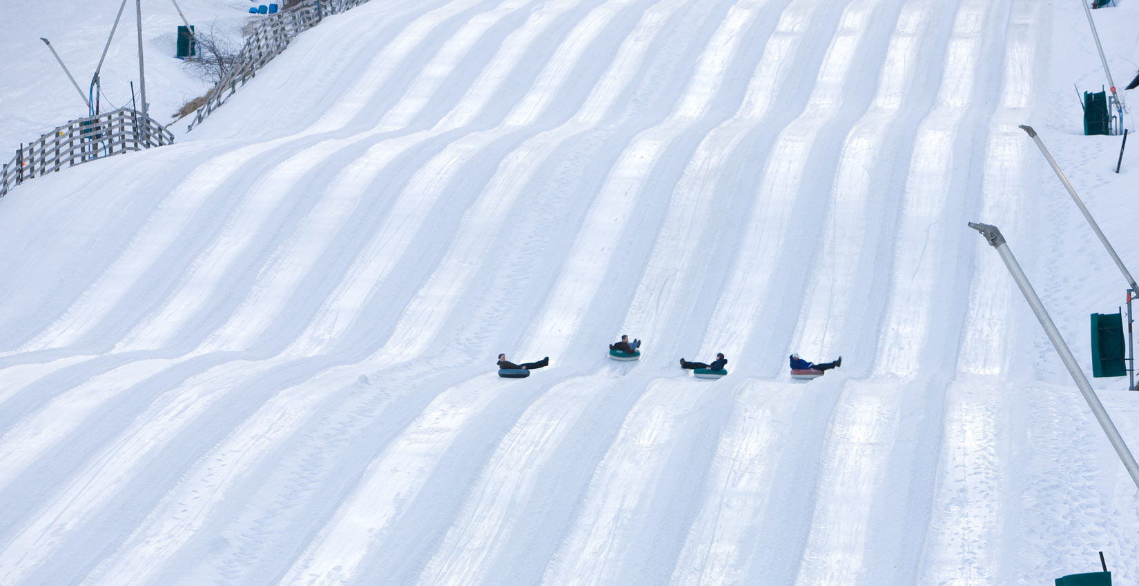 snow tubing in the blue ridge mountains